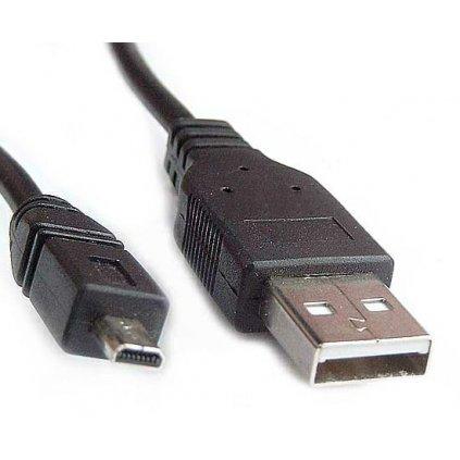 USB kábel pre fotoaparáty Nikon UC-E6 a Olympus CB-USB7