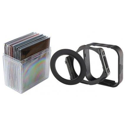 Sada 14v1: adaptér objektívu, držiak , slnečná clona, filtre 10 ks + puzdro