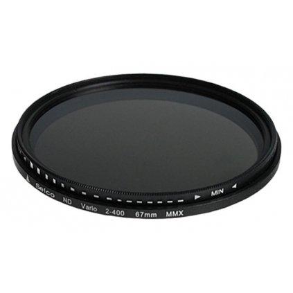 Sivý filter FADER, nastaviteľný (NDx2 - NDx400) - 49 mm