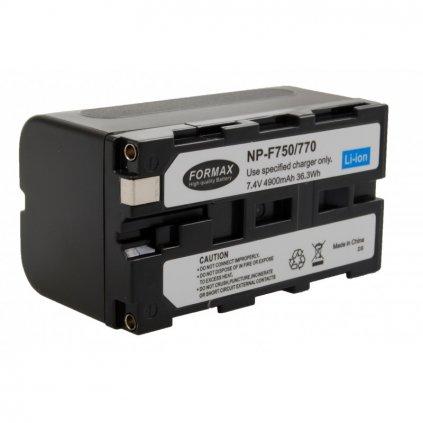 Batéria NP-F750 , 4900mAh 7,4V pre LED svetla YN 300 II a YN 600