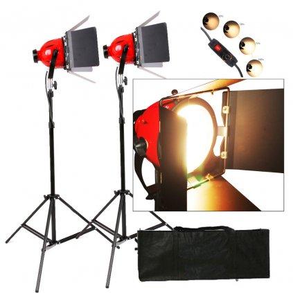 Štúdiové:video svetlá Red Head 2X 800W so stmievačmi