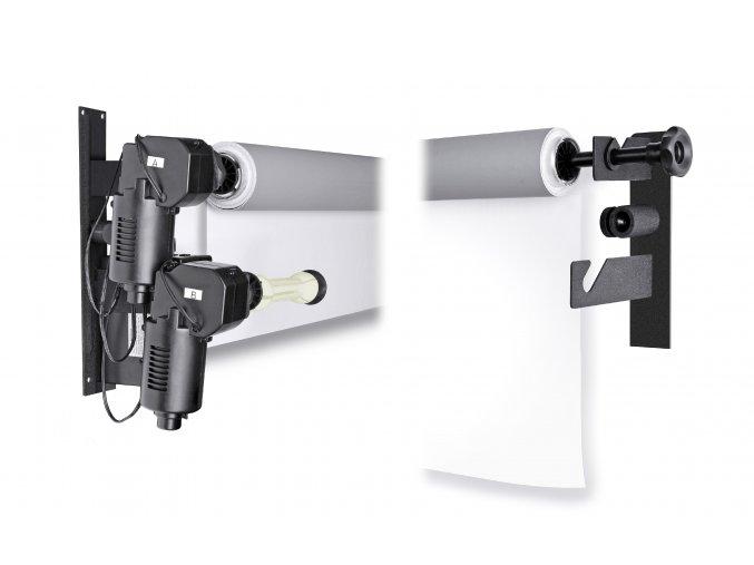 Elektrický nástenný držiak pre 2 valčekové pozadia BRESSER MB-2Y