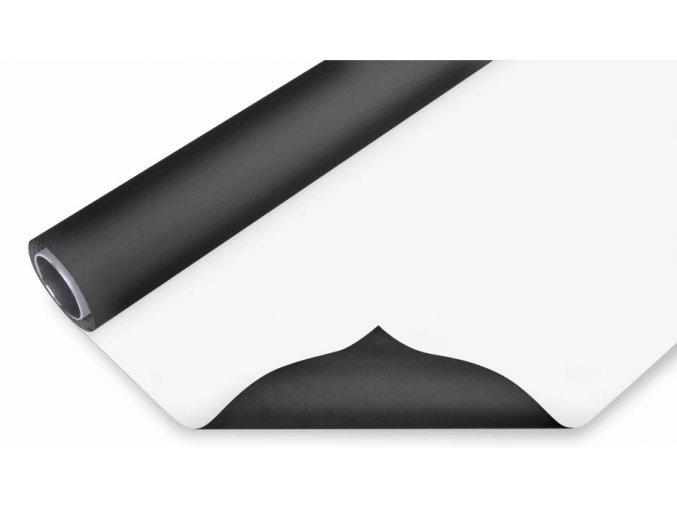 Vinylové foto pozadie 1,45x6m, čierno/biele Bresser