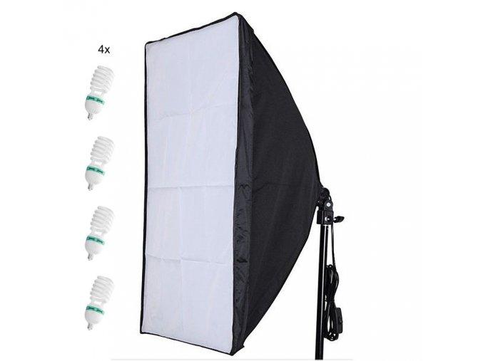 Softbox set 1300W 50x70cm + 4x žiarovky