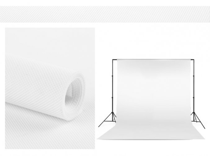 Polypropylenové pozadie 1,6 x 5m biele