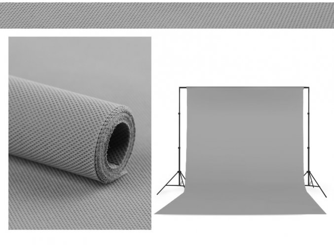 Polypropylenové pozadie 1,6 x 5m sivé