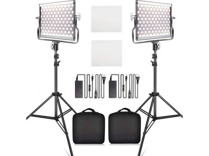2x LED video svetlo 3200- 5500k