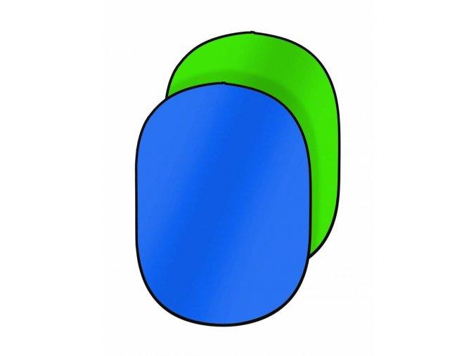 Prenosné fotopozadie 180x225cm, modrá/zelená, Bresser