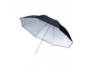 Reflexný dáždnik strieborný / biely / čierny 101 cm meniteľný BRESSER SM-05
