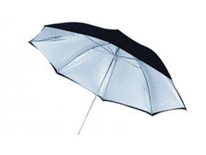 Dáždnik čierno / strieborný (zrnitý) 109 cm BRESSER SM-12