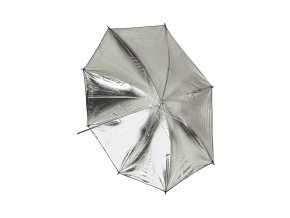 Štúdiový dáždnik 101cm strieborný / biely BRESSER SM-04
