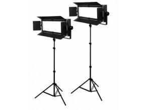 Štúdiový set foto-video LED 2x LG-900 54W/8.860LUX + 2x statív BRESSER