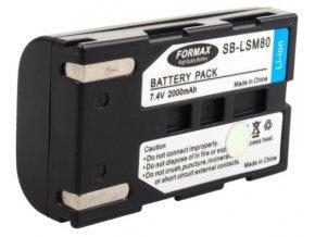 Batéria SB-LSM80 s kapacitou 2000 mAh pre fotoaparáty Samsung SC-D: 263, 351, 352, 353