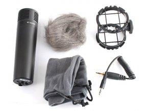 Stereo kondenzátorový mikrofón + anti-shock BOYA BY-VM300PS