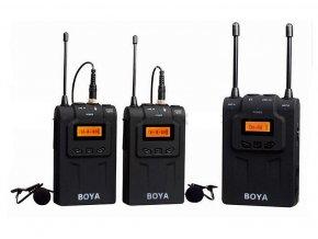 Súprava: 2 mikrofóny s klipmi + 2 vysielače + prijímač BOYA BY-WM8