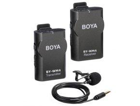 Bezdrôtový mikrofón 2,4 GHz s rozsahom do 25 m BOYA BY-WM4