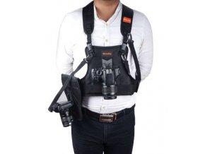 Fotografická postroj pre 2 fotoaparáty, Commlite model CS-S20-H1 + H2 + H3