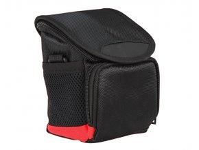 Taška pre kompaktný fotoaparát, čierno-červená