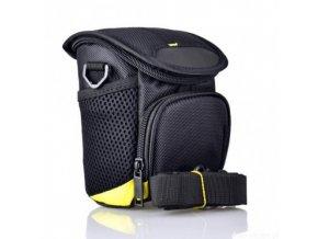 Taška pre kompaktný fotoaparát, čierno-žltá