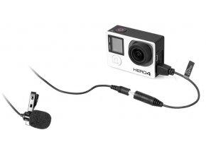 Klopový mikrofón pre športové kamery GoPro Hero 3, 3+, 4