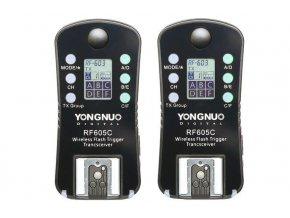2x rádiový odpaľovač externého blesku YongNuo RF-605C Canon