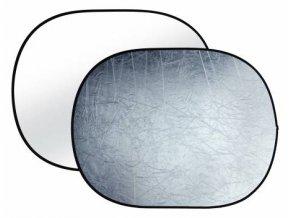 Odrazová doska sklápacia strieborná / biela 90x120cm BRESSER TR-8