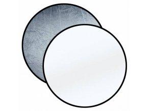 Skladacia odrazová doska strieborná / biela 110cm okrúhla BRESSER BR-TR8