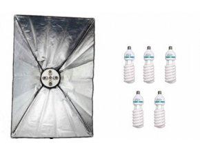 Daylight Set 1600W DS6 60x90cm+žiarivky