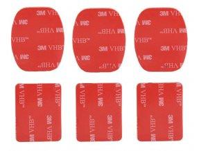 Akrylátové penové pásky 6 ks pre GoPro HERO 1, 2, 3, 3+, 4, 5