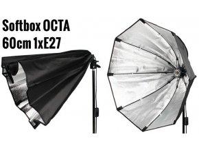 Osemhranný softbox OCTA 60 cm pre 1 žiarovku E27