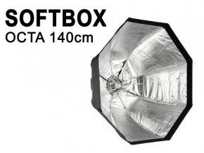 Osemhranný softbox OCTA 140cm, rýchla montáž, úchyt Bowens