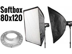 Softbox 80x120cm, úchyt Bowens
