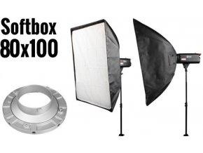 Softbox 80x100cm, úchyt Bowens