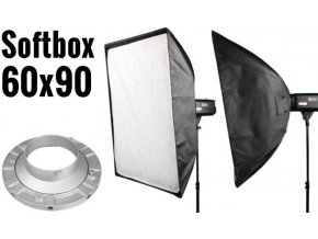 Softbox 60x90cm, úchyt Bowens