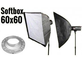 Softbox 60x60cm, úchyt Bowens