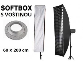 Softbox 60x200cm STRIP s voštinou, úchyt Bowens