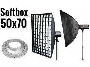 Softbox 50x70cm s voštinou, úchyt Bowens