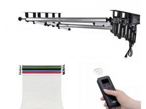 Elektrický závesný systém pre 6 fotopozadí