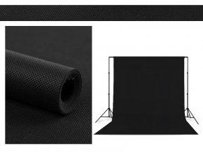 Polypropylenové pozadie 1,6 x 5m čierne