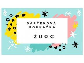 Darčeková poukážka Cvaknito.sk 200€