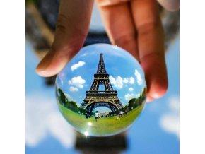 Krišťáľová foto guľa so stojanom, 10 cm