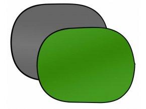 Prenosné fotopozadie 150x200cm, sivá/zelená, Bresser