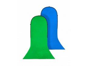Prenosné fotopozadie 180x240 + 240cm, kľučovacia (chromakey) zelená/modrá, Bresser