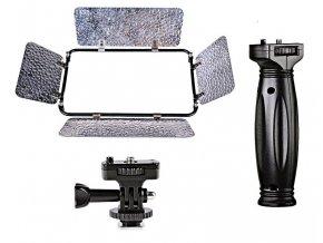 Fotografické panelové LED svetlo s rukoväťou 3200 - 5600K - 504 LED diód