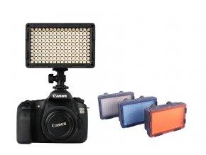 LED video svetlo s reguláciou farieb - 160 LED diód + 3 filtre