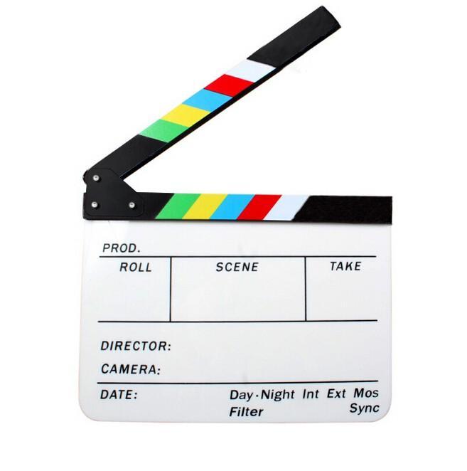 Biela filmová klapka