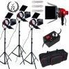Štúdiové:video svetlá Red Head 3X 800W so stmievačmi 11