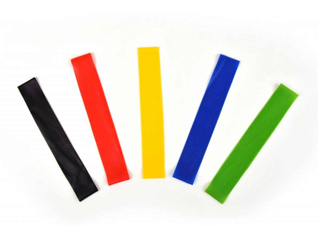 Set posilovacích gum 60 cm - 5 kusů