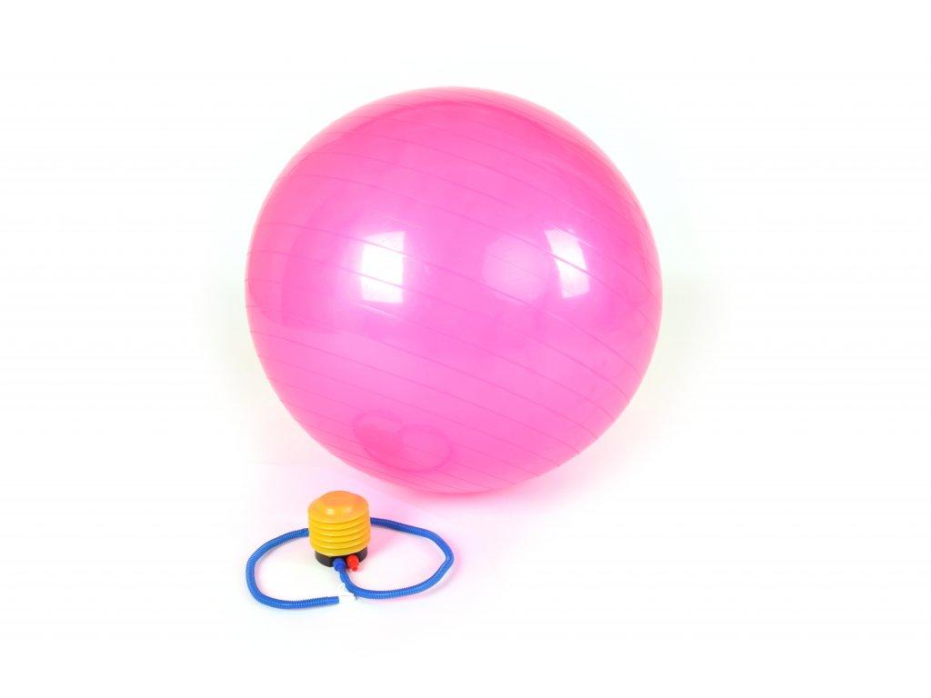 Gymnastický Míč GYM BALL - 75 cm RŮŽOVÝ
