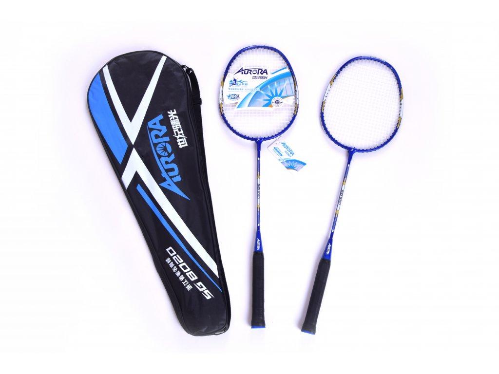 Set raket na badminton EUPROMED AURORA MODRÁ
